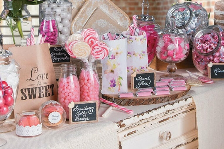 Candy bar: l'ultima tendenza per le tue cerimonie